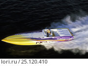 Купить «Outerlimits high speed powerboat.», фото № 25120410, снято 27 апреля 2018 г. (c) Nature Picture Library / Фотобанк Лори
