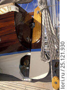 Купить «An immaculate tender on the deck of a classic yacht 1998.», фото № 25121930, снято 13 декабря 2017 г. (c) Nature Picture Library / Фотобанк Лори