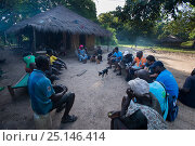 Local people gathered for education program to conserve the wildlife of the Bissagos Islands including the endangered Green turtle (Chelonia mydas) Bissagos... Стоковое фото, фотограф Pedro Narra / Nature Picture Library / Фотобанк Лори