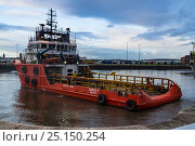Купить «Ocean tug 'Amber II Valletta' preparing to tow 'HMS Plymouth' from Birkenhead to Turkey, Merseyside, England UK. August 2014. All non-editorial uses must be cleared individually.», фото № 25150254, снято 16 августа 2018 г. (c) Nature Picture Library / Фотобанк Лори