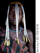 Купить «Girl with her traditional headdress, Mursi tribe. Mago National Park. Ethiopia, November 2014», фото № 25159514, снято 21 августа 2018 г. (c) Nature Picture Library / Фотобанк Лори