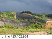 Купить «Open cast coal mine, Balipanap, East Kalimantan, Borneo. June 2010.», фото № 25162954, снято 19 августа 2018 г. (c) Nature Picture Library / Фотобанк Лори