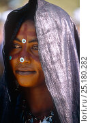 Купить «Portrait of woman in traditional clothing celebrating the Iferouane festival, central Niger, 2005.», фото № 25180282, снято 2 июля 2020 г. (c) Nature Picture Library / Фотобанк Лори