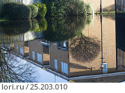 Купить «Flooded homes reflected in flood water during February 2014 floods. Surrey, England, UK, 16th February 2014.», фото № 25203010, снято 20 июля 2018 г. (c) Nature Picture Library / Фотобанк Лори