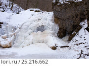 Frosty morning at the waterfalls Rufabgo. Adygea. Стоковое фото, фотограф Юлия Доленко / Фотобанк Лори