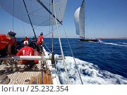Купить «Crew on board J-Class replica 'Ranger' during training for the Superyacht Cup, Palma, Majorca, Spain, June 2013. All non-editorial uses must be cleared individually.», фото № 25232354, снято 23 сентября 2018 г. (c) Nature Picture Library / Фотобанк Лори