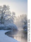 Купить «The River Lathkill, running through Lathkill Dale SSSI National Nature Reserve, Peak District National Park, Derbyshire, UK, January.», фото № 25234386, снято 15 августа 2018 г. (c) Nature Picture Library / Фотобанк Лори