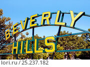 Купить «Beverly Hills Sign, Beverly Hills, Los Angeles, California, USA», фото № 25237182, снято 23 сентября 2018 г. (c) Nature Picture Library / Фотобанк Лори