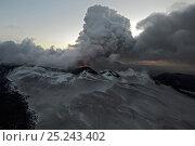 Купить «Ash from the erupting Plosky Tolbachik Volcano, Kamchatka Peninsula, Russia, 15 December 2012», фото № 25243402, снято 9 декабря 2019 г. (c) Nature Picture Library / Фотобанк Лори