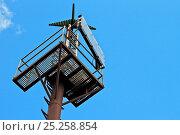 Купить «Looking upwards at channel marker maintenance platform, New Brighton, Merseyside, England, April 2012.», фото № 25258854, снято 20 июля 2018 г. (c) Nature Picture Library / Фотобанк Лори