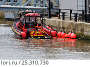Купить «Merseyside fire and rescue craft tied up behind Liverpool Cruise Liner Terminal, River Mersey, England, April 2011.», фото № 25310730, снято 20 августа 2018 г. (c) Nature Picture Library / Фотобанк Лори