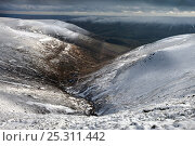 Купить «Grindsbrook Clough, Kinder Scout, Peak District National Park, Derbyshire, UK. February 2010.», фото № 25311442, снято 23 апреля 2018 г. (c) Nature Picture Library / Фотобанк Лори