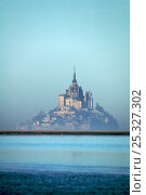 Купить «Mont Saint Michel in the mist, winter, Normandy, France, January 2008», фото № 25327302, снято 29 мая 2020 г. (c) Nature Picture Library / Фотобанк Лори