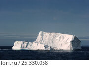 Купить «Iceberg floating at an angle, in Davis Strait off south Baffin island, Nunavut, Canada,  August 2010», фото № 25330058, снято 28 мая 2020 г. (c) Nature Picture Library / Фотобанк Лори
