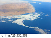 Купить «Aerial view of Corwallis Island and icepack, Baffin bay, Nunavut, Canada,  August 2010», фото № 25332358, снято 28 мая 2020 г. (c) Nature Picture Library / Фотобанк Лори