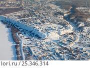 Тобольский Кремль зимой, вид сверху. Стоковое фото, фотограф Владимир Мельников / Фотобанк Лори