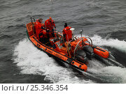 Купить «RIB rescue craft on the North Sea, March 2010.», фото № 25346354, снято 18 декабря 2018 г. (c) Nature Picture Library / Фотобанк Лори
