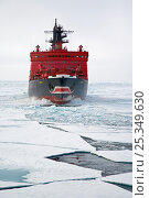 "Купить «Russian nuclear icebreaker ""Yamal"" in the Russian Arctic, July 2008», фото № 25349630, снято 19 сентября 2019 г. (c) Nature Picture Library / Фотобанк Лори"