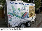 Купить «Mobile Air quality monitoring unit beside a road in Richmond, London, UK», фото № 25378374, снято 22 февраля 2019 г. (c) Nature Picture Library / Фотобанк Лори