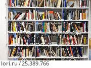 Купить «Библиотека, полки с книгами», фото № 25389766, снято 11 февраля 2017 г. (c) Victoria Demidova / Фотобанк Лори