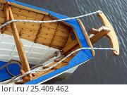 "Купить «Stern, yoke and rudder lines of Bristol Pilot Gig Club's ""Isambard"" on Bristol's Floating Harbour, England, UK    , July 2008», фото № 25409462, снято 20 августа 2018 г. (c) Nature Picture Library / Фотобанк Лори"