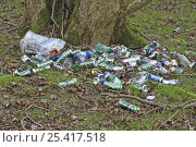 Купить «Cans dumped in woodland, fly tipping, Norfolk, UK, March 2007», фото № 25417518, снято 23 апреля 2018 г. (c) Nature Picture Library / Фотобанк Лори