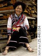Купить «Hua Lisu ethnic minority woman near Lushui, Lishui County, Yunnan Province, China 2006», фото № 25440034, снято 13 июля 2020 г. (c) Nature Picture Library / Фотобанк Лори