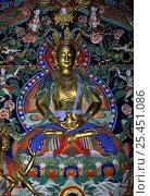 Купить «XIX century statue of Buddha, The castle of Dalai-lama brother / Museum of Masks, Ullan Baator, Mongolia», фото № 25451086, снято 22 мая 2019 г. (c) Nature Picture Library / Фотобанк Лори