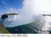 Купить «Niagara falls, Ontario, Canada.», фото № 25494082, снято 3 апреля 2020 г. (c) Nature Picture Library / Фотобанк Лори