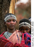 Купить «Two Maasai circumcised girls at Eunoto ceremony, Mara Region, Kenya», фото № 25507450, снято 26 мая 2018 г. (c) Nature Picture Library / Фотобанк Лори