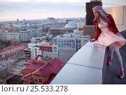 Купить «Woman in pink dress», фото № 25533278, снято 3 апреля 2014 г. (c) Алена Роот / Фотобанк Лори