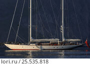"""Купить «180ft Superyacht """"Adele"""" on her maiden voyage to the Lofoten Islands, in the Arctic Circle, Norway, June/July 2005. ^^^ Adele is a 180-foot Andre Hoek designed yacht, built by Vitters Shipyard, Holland, and owned by Jan-Eric Osterlund. Non editorial uses must be cleared individually.», фото № 25535818, снято 19 января 2020 г. (c) Nature Picture Library / Фотобанк Лори"""