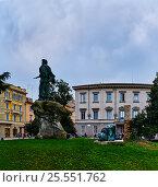 Купить «Piazzale della Pace in center of Parma, Italy», фото № 25551762, снято 26 ноября 2016 г. (c) BestPhotoStudio / Фотобанк Лори