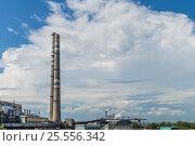 Купить «Дымящие трубы электростанций на фоне города», фото № 25556342, снято 30 июня 2016 г. (c) Оксана Владимировна Грачева / Фотобанк Лори