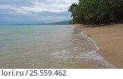 Landscape with beach and sea in Khao Lak, Thailand (2017 год). Стоковое видео, видеограф Михаил Коханчиков / Фотобанк Лори