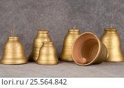 Decorative bell handmade ceramics, sonorous and melodious. Стоковое фото, фотограф Глыцко Андрей / Фотобанк Лори