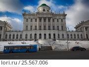Купить «Москва. Дом Пашкова», эксклюзивное фото № 25567006, снято 14 февраля 2017 г. (c) Яна Королёва / Фотобанк Лори