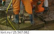 Купить «Рабочие ведут ремонтные работы в подвале здания Биржи в Санкт-Петербурге», видеоролик № 25567082, снято 15 февраля 2017 г. (c) Stockphoto / Фотобанк Лори
