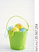 Decorative easter eggs. Стоковое фото, фотограф Юлия Младич / Фотобанк Лори