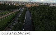 Купить «Michaels castle in Saint-Petersburg aerial», видеоролик № 25567970, снято 6 ноября 2016 г. (c) Алексей Макаров / Фотобанк Лори