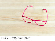 pink Eye Glasses Isolated. Стоковое фото, фотограф Алексей Суворов / Фотобанк Лори