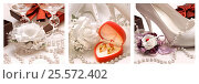 Купить «Триптих, Свадебные композиции», фото № 25572402, снято 21 ноября 2019 г. (c) Виктор Топорков / Фотобанк Лори