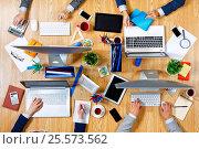 Купить «Interacting as team for better results . Mixed media», фото № 25573562, снято 20 сентября 2016 г. (c) Sergey Nivens / Фотобанк Лори