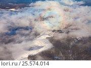 Бердяушский гранитный карьер, вид сверху, фото № 25574014, снято 4 февраля 2017 г. (c) Владимир Мельников / Фотобанк Лори