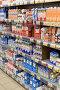 Молочные продукты полках супермаркета, фото № 25576178, снято 16 февраля 2017 г. (c) Юрий Морозов / Фотобанк Лори
