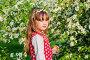 Portrait of a little girl in summer Apple orchard, фото № 25578194, снято 23 мая 2016 г. (c) Сергей Завьялов / Фотобанк Лори