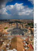 Площадь Святого Петра в Ватикане, эксклюзивное фото № 25578434, снято 19 апреля 2015 г. (c) Яна Королёва / Фотобанк Лори
