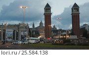 Купить «General view on Placa Espana», видеоролик № 25584138, снято 17 декабря 2016 г. (c) Яков Филимонов / Фотобанк Лори