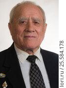 Portrait of elderly man in black jacket. Стоковое фото, фотограф Станислав Занегин / Фотобанк Лори