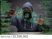 Купить «Hacker stealing dollars from bank», фото № 25590902, снято 21 ноября 2019 г. (c) Elnur / Фотобанк Лори